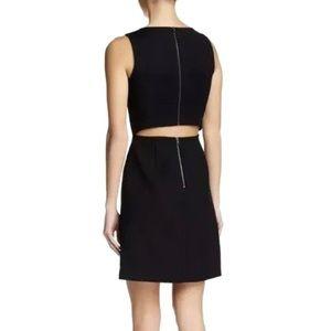 THEORY Black Emison Cut Out Back Shift Dress